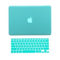 "TopCase 2 in 1 Rubberized TIFFANY BLUE Hard Case Cover and Keyboard Cover for Macbook Pro 13-inch 13"" (A1278/with or without Thunderbolt) with TopCase® Mouse Pad"