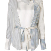 Stella McCartney Striped Wrap Shirt - Farfetch