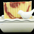 Dolomite Soap Dish with Removable Tray and Bird