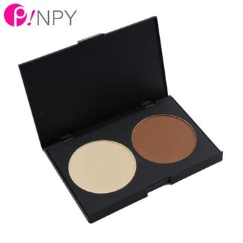 LMF8UV 2016 HOT New 2 Color Contour Foundation Palette Makeup Contour Shading Cosmetic Concealer Highlight Powder Palette