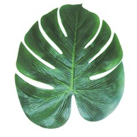 12pcs Artificial Leaf 35x29cm Tropical Palm Leaves Simulation Leaf for Hawaiian Luau Theme Party Decorations Home garden decor