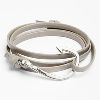 Men's Miansai Silver Hook Leather Bracelet