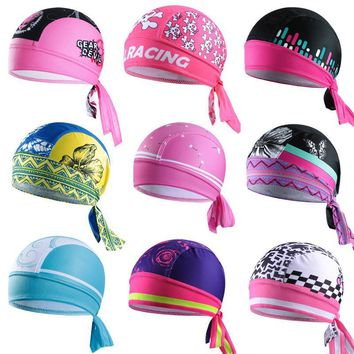 Q372 Cycling Headwea Hat Function Women Bike Bicycle Hat Headscarf Cycling Cap Bandana Hood MTB Headband Skull Pirate Head Scarf