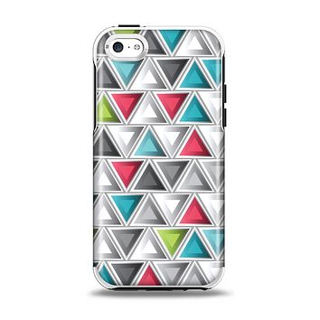 The Vibrant Colored Triangled 3d Shapes Apple iPhone 5c Otterbox Symmetry Case Skin Set