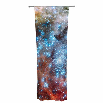 "Suzanne Carter ""Star Cluster"" Blue Space Decorative Sheer Curtain"