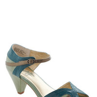 Seychelles At First Sight Heel in Teal | Mod Retro Vintage Heels | ModCloth.com