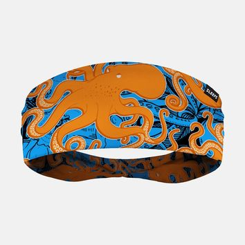Kraken Octopus Yellow Blue Headband