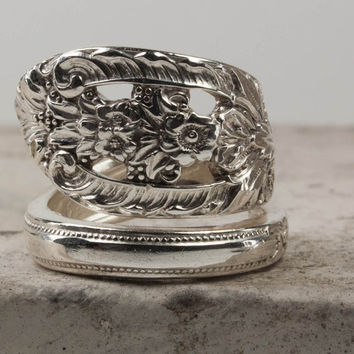 Fork Ring Sterling Silver Antique Fork Ring Mother's Day Gifts