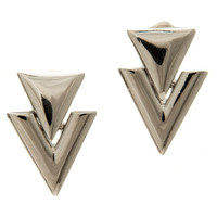 Retro Arrow Earrings (Silver)