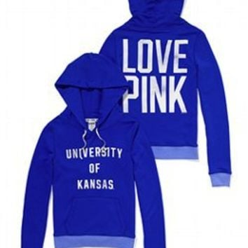 University of Kansas Perfect Pullover Hoodie - PINK - Victoria's Secret