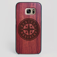 Seattle Mariners Galaxy S7 Edge Case - All Wood Everything