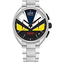 Fendi - Momento Fendi Bug Chronograph Colorblock Stainless Steel Bracelet Watch - Saks Fifth Avenue Mobile