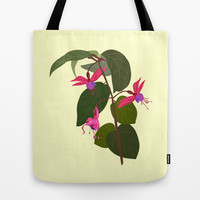 Fuchsia Flowers Tote Bag by Jacqueline Turton Designs