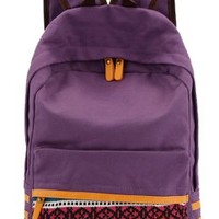 SAIERLONG Women's And Girl's Backpack School bag travel bag Purple Canvas:Amazon:Clothing