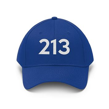California 213 Area Code Embroidered Twill Hat