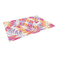 "Alison Coxon ""Summer Fern"" Pink Orange Indoor / Outdoor Floor Mat"
