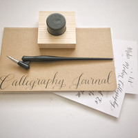 Mini Calligraphy Starter Kit  + Ships Quickly + Free Name Personalization +  Gift