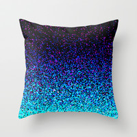 Celebration (Not Real Glitter) Throw Pillow by M Studio