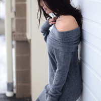 Second Nature Tunic - Charcoal