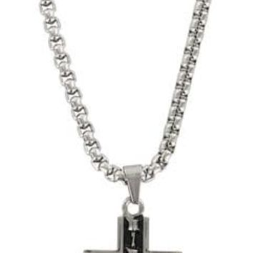 Moonshine Spirit Men's Barbwire Cross Necklace