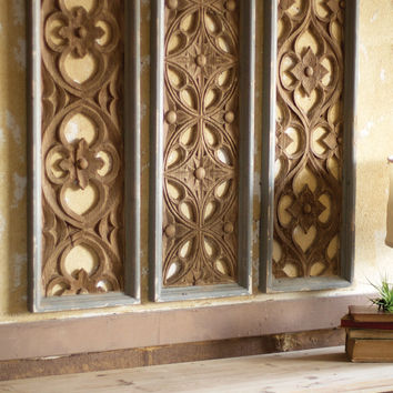 Set Of 3 Wooden Wall Panels