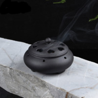 Incense Burner Pot Black Heart-shaped