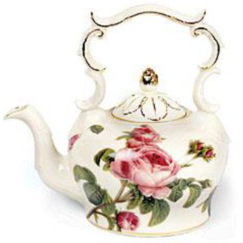 Romantic Rose Garden Porcelain Tea Collection Teapots and Service Sets