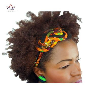 New Vintage Women Headbands Hair Accessories Beads African Printed