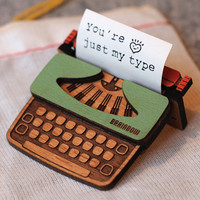 Typewriter Brooch by bRainbowshop on Etsy