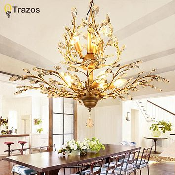Led Crystal Chandelier Lighting Ceiling Suspension