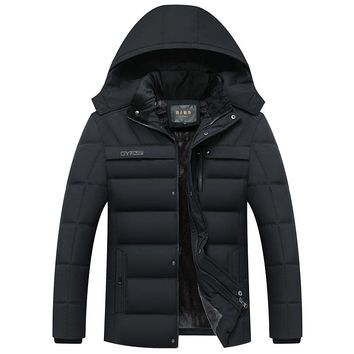 Parka Men Coats Winter Jacket Men Thicken Hooded Waterproof Outwear Warm Coat Fathers' Clothing Casual Men's Overcoat