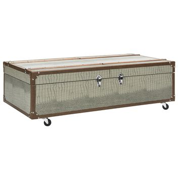 Safavieh Zoe Grey Trunk | Overstock.com Shopping - The Best Deals on Coffee, Sofa & End Tables
