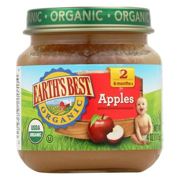 Earth's Best Organic Baby Food Stage 2 Apple - 4 oz