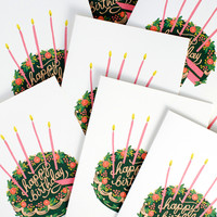 Birthday Cake Single Card Or Boxed Set