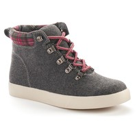 Mudd Women's Plaid High-Top Sneakers (Grey)