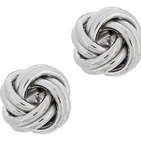 Sterling Polished Love Knot Earrings — QVC.com