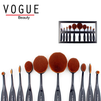 Makeup brushes Oval makeup Brush Set Professional Blending Contour Blush Foundation Highlight Powder face make up cleansing
