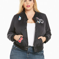 Sanrio Hello Kitty Patch Bomber Jacket