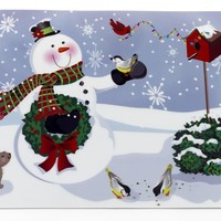 Snowman Holiday Place Mat Set of 4