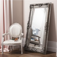 Valois Mirror Silver Leaf | Tall Leaner Mirror | French Style Valois Mirror
