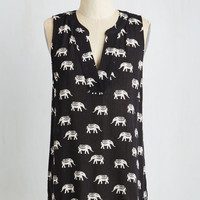 Critters Mid-length Sleeveless Once in a Wild Top