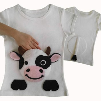 Cow farm animal shirt farm baby clothes from my pal pockets