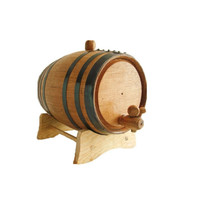 Black Banded Whiskey Barrel