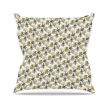 "Pom Graphic Design ""Golden Apothecary "" Gold Black Outdoor Throw Pillow"