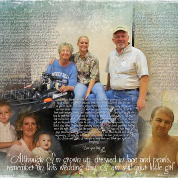 Mom Dad Parent In Law Wedding Thank You Gift Photo Collage Photo Art Custom Photo Editing