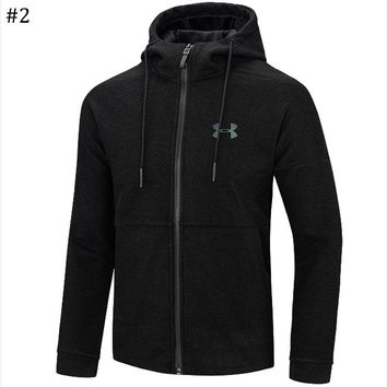 Under Armour autumn and winter new trend men's sports cardigan hooded sweater #2
