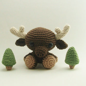 Crochet Moose / Crochet Amigurumi Animal / Amigurumi Animals / Crochet Animal / Crochet Deer / Crochet Reindeer / Woodland Animal / Baby Toy