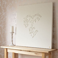 personalised 'falling in love' canvas by gorgeous graffiti | notonthehighstreet.com