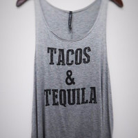 Tacos & Tequila Tank - Heather Grey