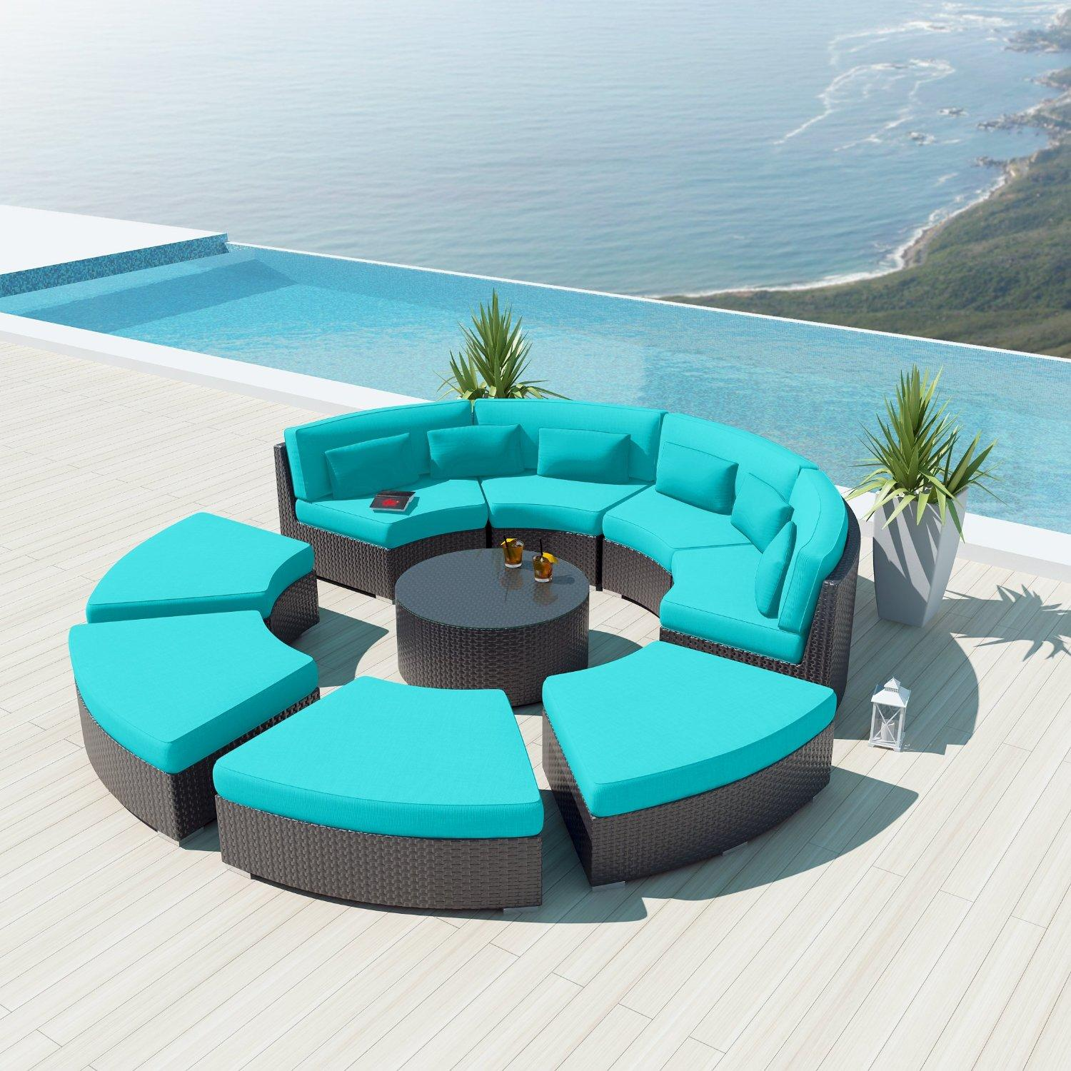 New Uduka 9pcs Outdoor Round Sectional From Amazon